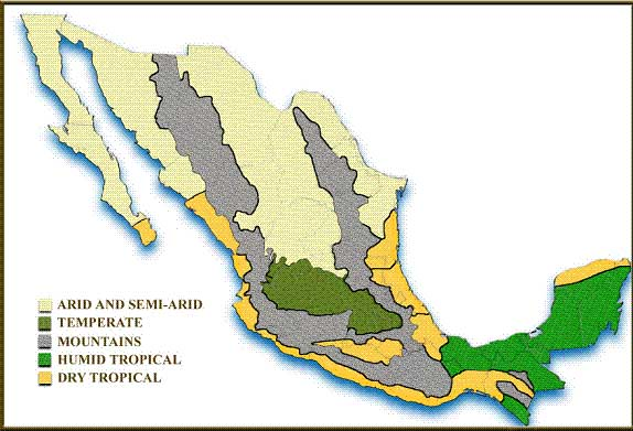 Mexico A Land Of Three Lands Realestatepue - Mexico climate map